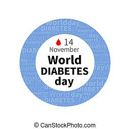 14, giorno, mondo, novembre, bandiera, diabete