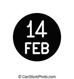 14 glyph flat icon