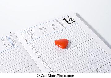 14, szív, február