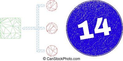 14, timbre, hiérarchie, bleu, carcasse, toile, détresse