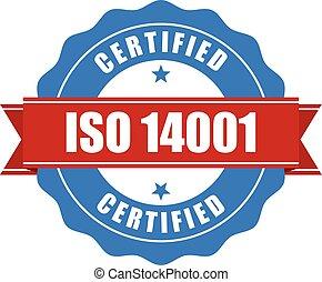 14001, iso, 証明される, 切手