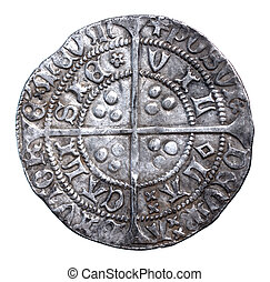 1430-1431, revés, vi, martillado, henry, groat, plata