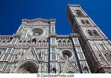 1436, azul, construído, céu, contra, fachada, bonito,...