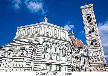 1436, azul, construído, st., baptistery, céu, contra,...