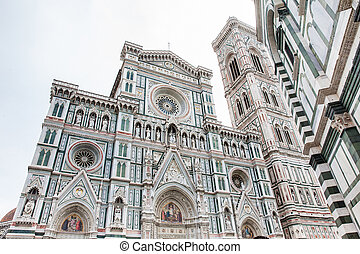 1436, consagrado, campanile, giotto, catedral, florença