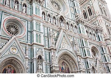 1436, consecrated, campanile, giotto, 大聖堂, フィレンツェ