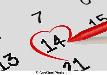 14e, de, février, à, coeur