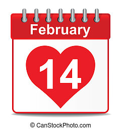 14th of February isolated