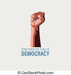 15 , ανάμιξη. , σεπτέμβριοs , μαύρο , design., ημέρα , διεθνής , γενική ιδέα , democracy.