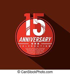 15, 年, デザイン, 記念日祝典
