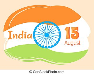 15 August Indian Independence Day Greeting Poster