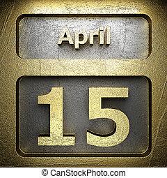 15 avril, doré, signe