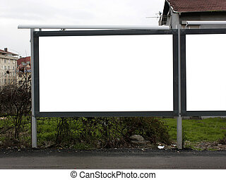 1,5 Blank Billboard One and Half - Including clipping path