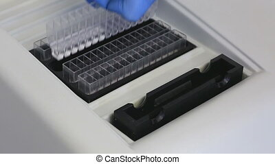 15-channel semi-automatic biochemical analyzer.