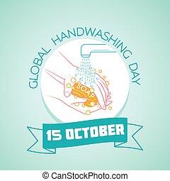 15, día, global, handwashing, octubre