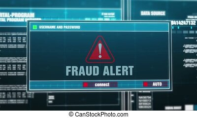 15. Fraud Alert Warning Notification on Digital Security Alert on Screen.