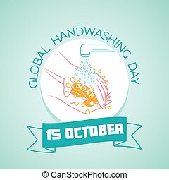 15 october Global Handwashing Day - Calendar for each day on...