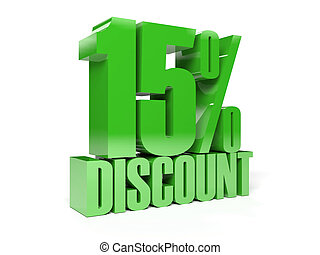 15 percent discount.