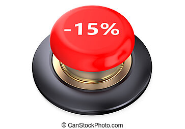15 percent discount Red button