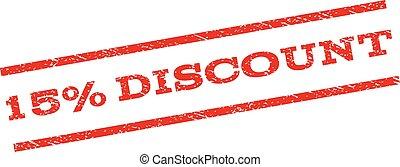 15 Percent Discount Watermark Stamp