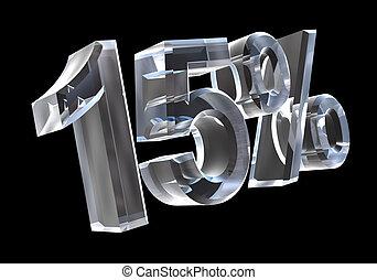 15 percent in glass (3D made)