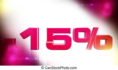 15 percent OFF 01 - 15 percent OFF discount animation