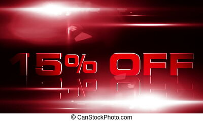 15 percent OFF 03 - 15 percent OFF discount animation