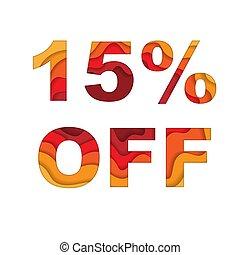 15 percent off sale