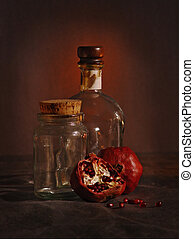 1.5 pomegranate - Stil-life with pomegranates