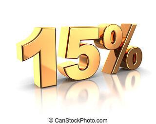 15, procent