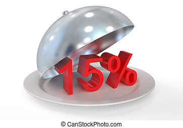 15 %,  sale and discount concept