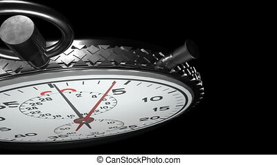15 Second Stopwatch - Close UP of Stopwatch with Matte / ...