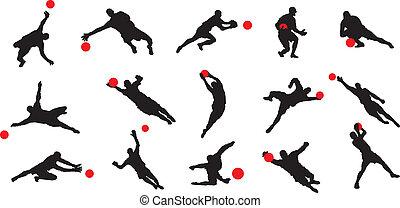 15 soccer goal keeper poses.
