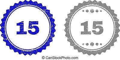 15, timbre, cachets, textured, grunge, ruban