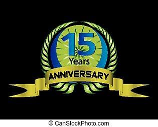 15 year Anniversary?vector celebrat