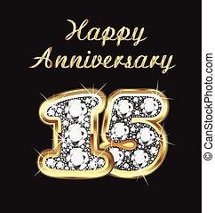15 years anniversary birthday