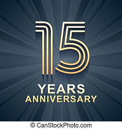 15 years anniversary celebration vector icon, logo. Template...