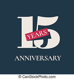 15 years anniversary celebration vector icon, logo. Template...
