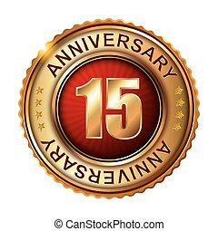15 years anniversary golden label.