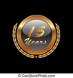 15 Years anniversary in gold