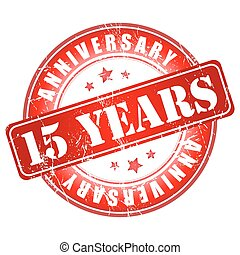 15 years anniversary stamp. 