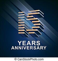 15 years anniversary vector icon, logo. Graphic design...
