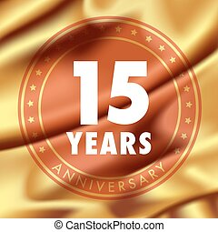 15 years anniversary vector icon, logo