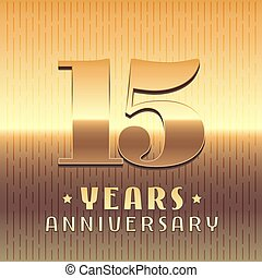 15 years anniversary vector icon, symbol. Graphic design...