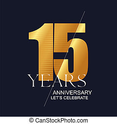 15 years anniversary vector icon, symbol, logo. Graphic...