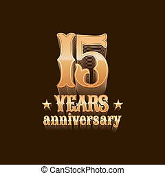 15 years anniversary vector logo, icon