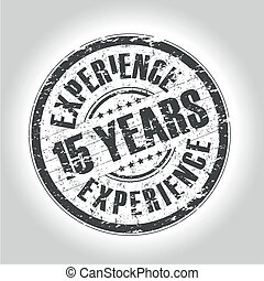 15 years experience stamp - grunge style stamp