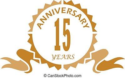 15 years anniversary invitation vector 15 years anniversary invitation vector illustration eps10 15 years ribbon anniversary stopboris Image collections
