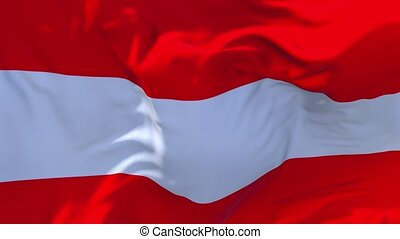 153. Austria Flag Waving in Wind Continuous Seamless Loop Background.