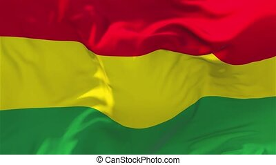 158. Bolivia Flag Waving in Wind Slow Motion Animation . 4K Realistic Fabric Texture Flag Smooth Blowing on a windy day Continuous Seamless Loop Background.